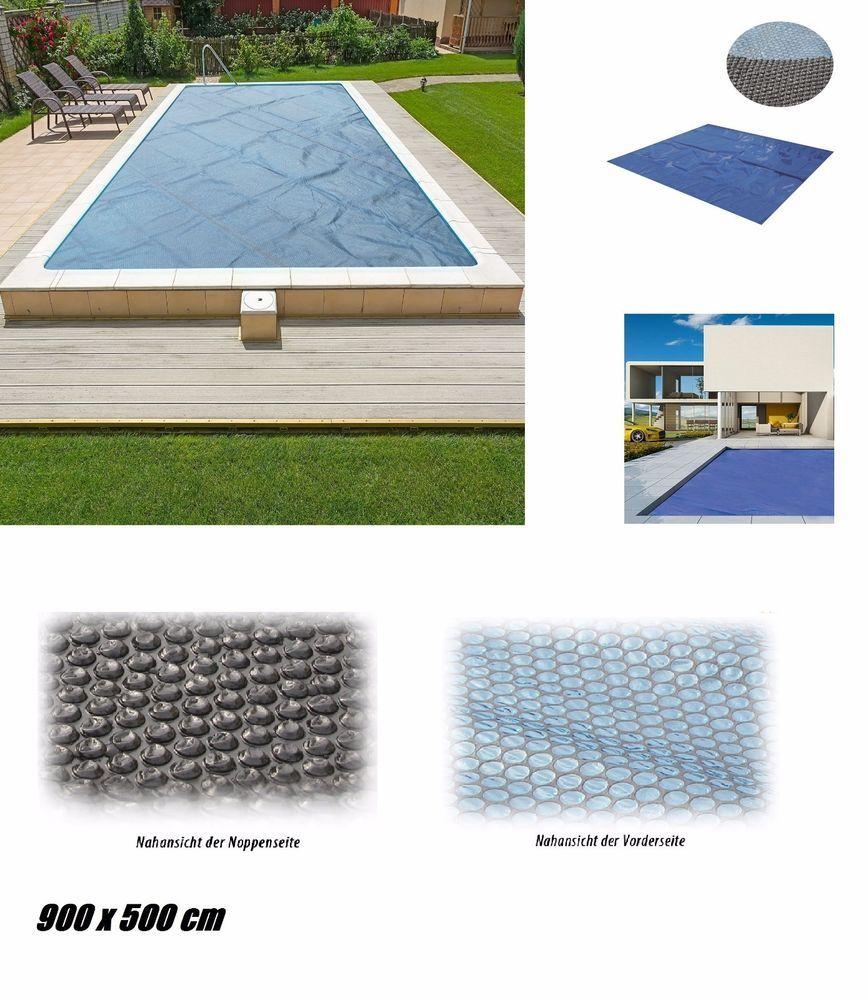 Solarplane Pool Wärmeplane 900x500cm für Poolheizung Solarfolie ...