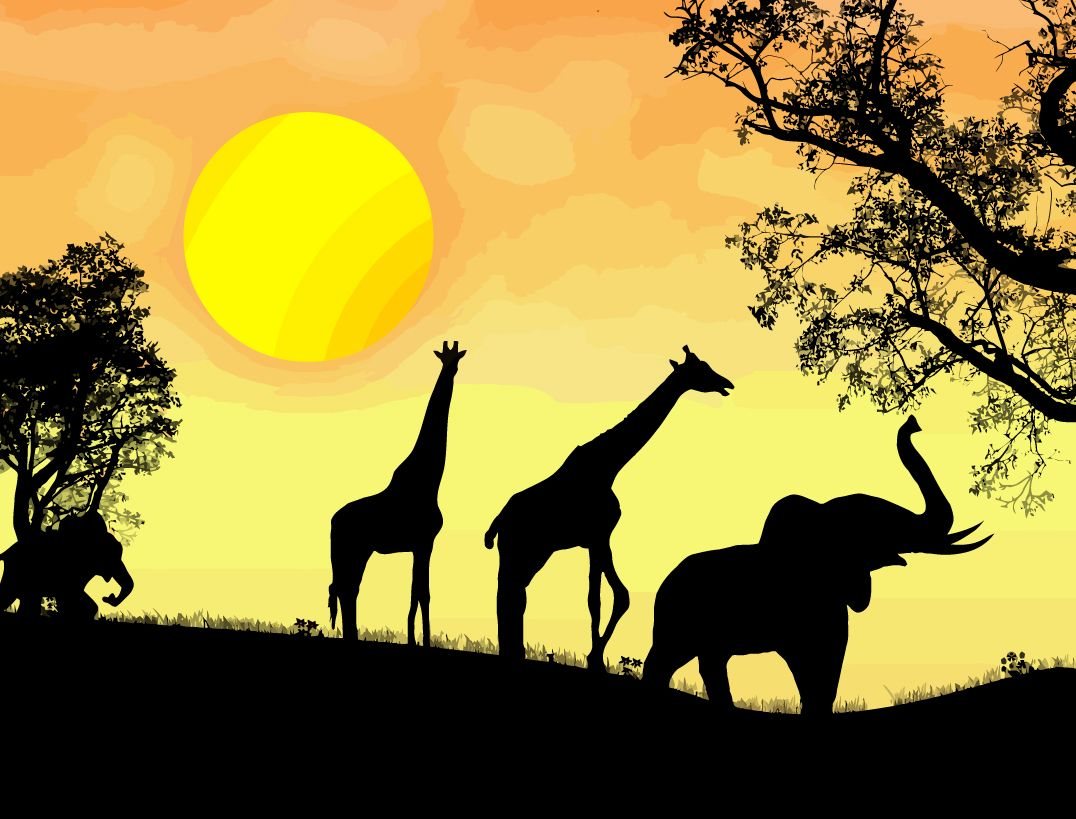 Free vector African safari vector graphic available for