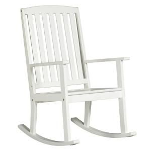 Martha Stewart Living Lake Carolina Picket Fence Outdoor Patio Rocking Chair-1558910410 at The Home Depot
