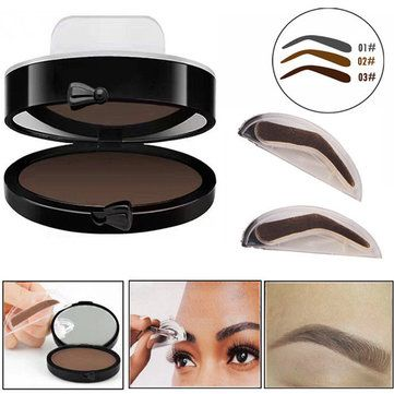 Eyebrow Stamp Seal Palette Set Two Color Shadow Powder Waterproof Eye Brow Stamp Powder Natural Shape Eyebrows Powder Palette Back To Search Resultsbeauty & Health Eyebrow Enhancers