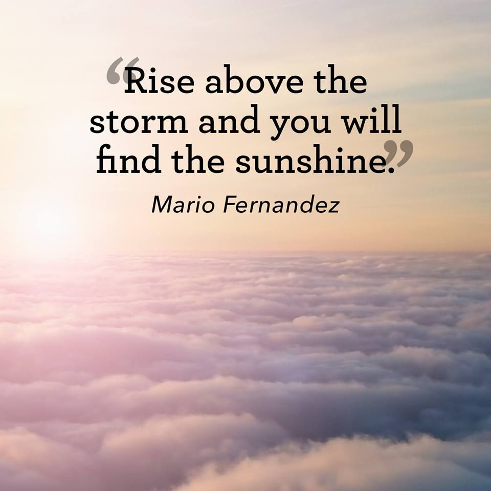 Rise above the storm and you will find the sunshine  | Words