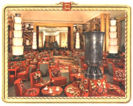 Grand salon of ship Normandie 1935 | Deco, Normandy