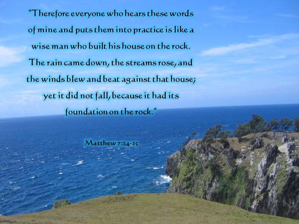 Matthew 7 24 27 Commentary - Bing