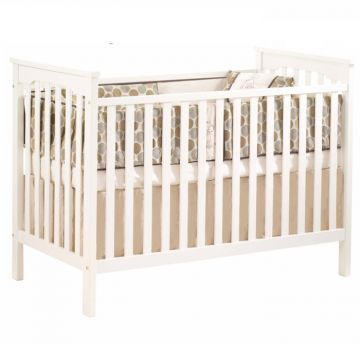 Natart Barcelona Crib French White Cribs Luxury Baby Crib