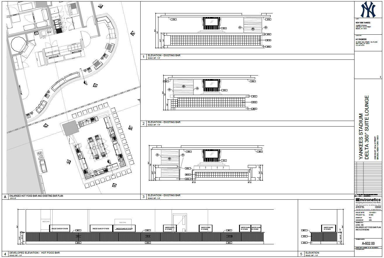 food bar and existing bar plan yankee stadium delta