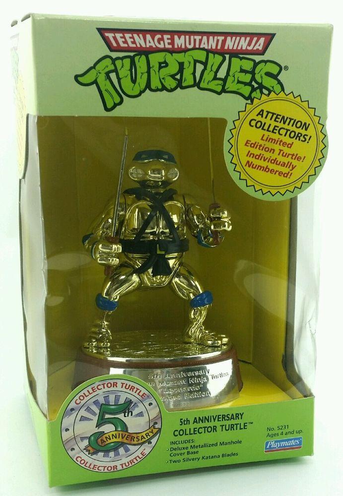 Teenage Mutant Ninja Turtles Teenage Mutant Ninja Turtles 5th Anniversary PLAYMATES # 5231 NEW IN BOX