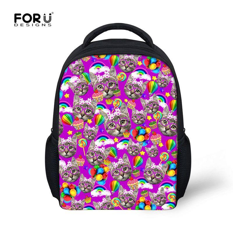 Mini Backpack 12 Inch Children Cute Cat Animal Preschool Small