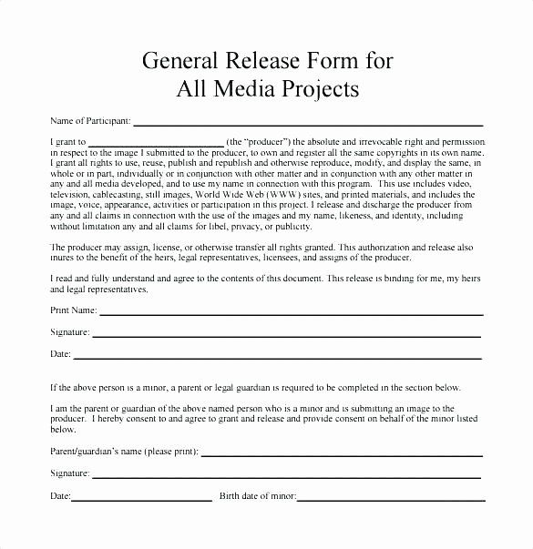 Awesome Media Release Form Template In 2020 Application Letter