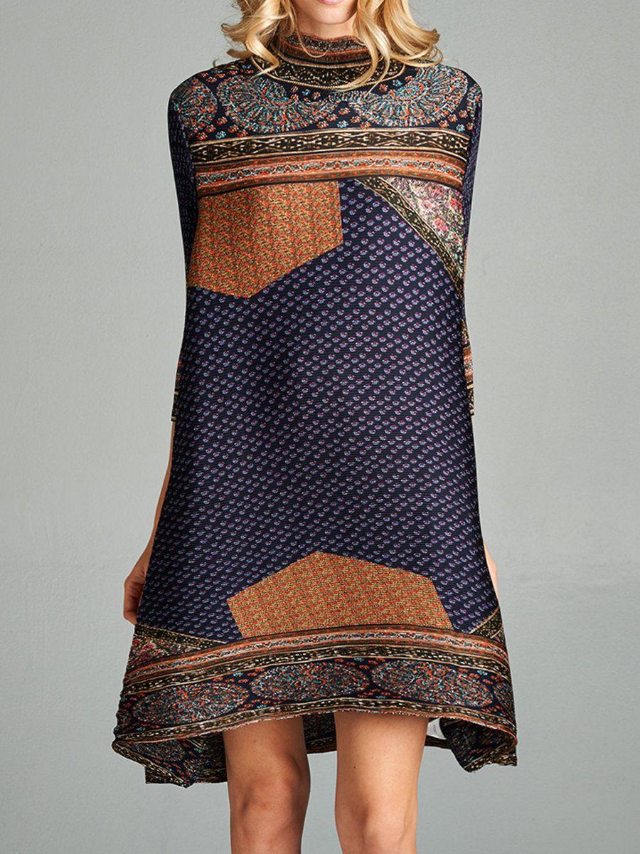 9ad7ecf273e0  AdoreWe  StyleWe Womens - Nabisplace Brown Long Sleeve H-line Midi Dress -  AdoreWe.com