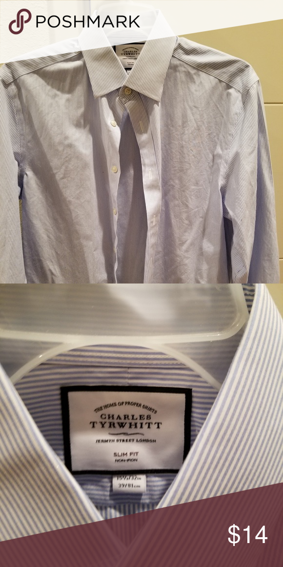 8ee6183f Charles Tyrwhitt 16/32 Extra Slim Fit Dress Shirt Blue and white stripe  dress shirt, worn less than 5 times and in perfect condition. Charles  Tyrwhitt ...