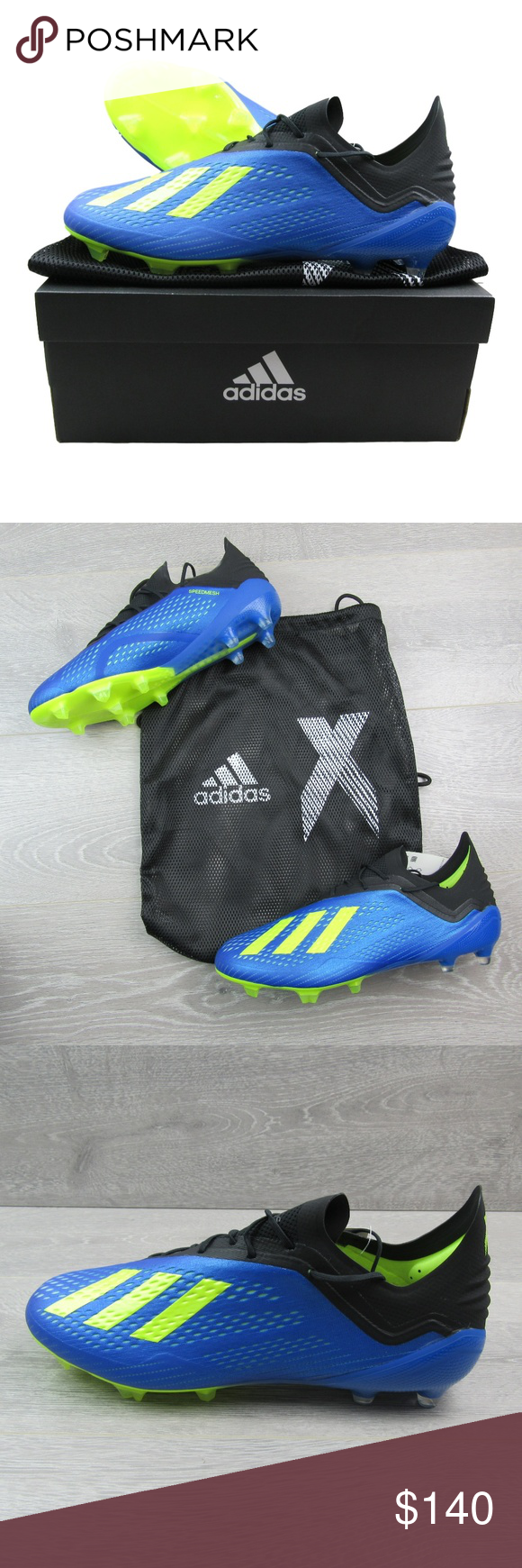 6d6398900 Adidas X 18.1 FG Soccer Cleats Blue Solar Yellow PLEASE NO OFFERS PRICE IS  FIRM Adidas