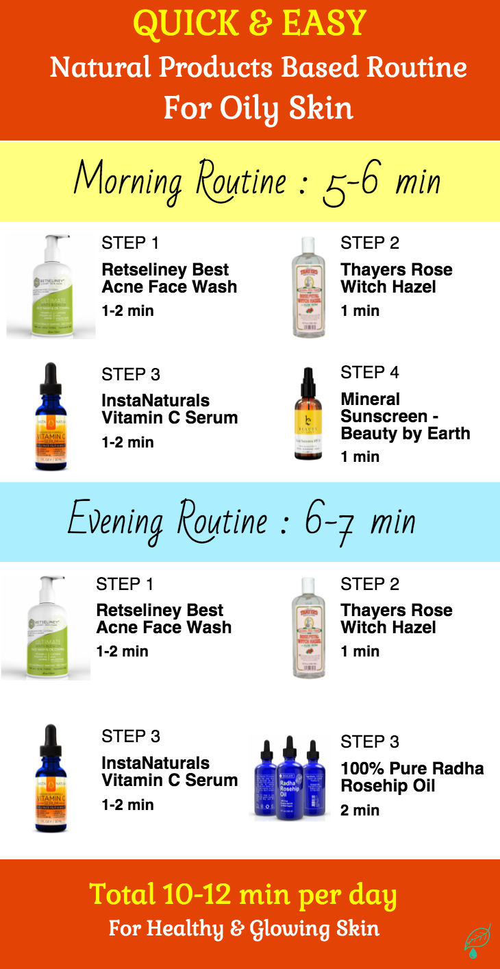 This All Natural Skin Care Routine For Oily Skin Is Holistic Yet Quick Simple It Takes 5 All Natural Skin Care Natural Skin Care Routine Natural Skin Care