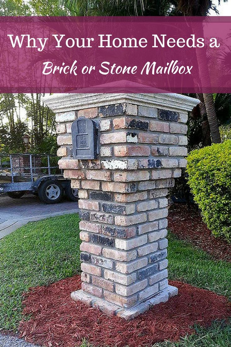 Building a brick mailbox is a great way to provide a curb appeal #brick #mailbox #home #garden #mortonstone #decor #tiles #rustic #homeideas #landscape #homeideas