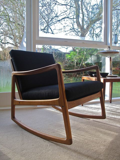 Ole Wanscher Rocking Chair | Rocking chairs, Interiors and Mid century