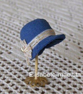 minis-onesecondlife: Passo-a-passo de chapéus/DIY hats