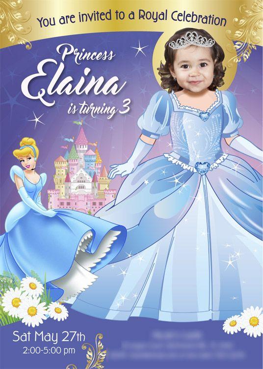 Cinderella Birthday Invitation Cinderella Party Ideas Cinderella Birthday Disney Princess Invitations Princess Birthday Invitations