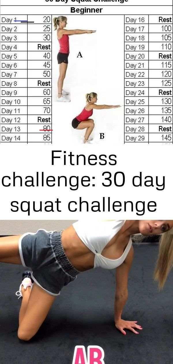 Fitness challenge: 30-day squat challenge - Squat challenge 30 day - #30Day #Challenge #Day #Fitness...