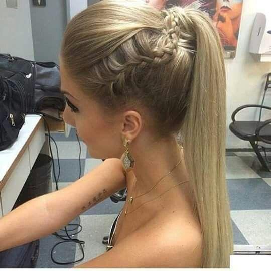Recogiido Con Trensa Cola Con Trenza Peinados Con Coleta Peinados