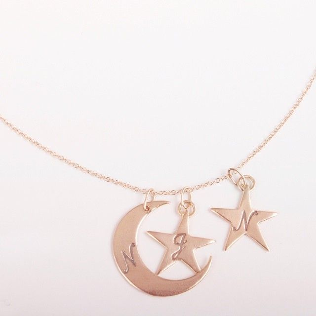 You are My Moon and Star stacking Necklace by Catbird.