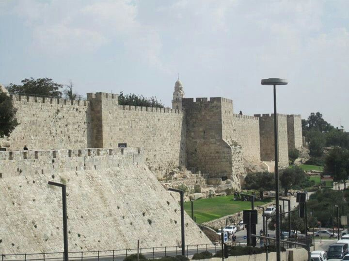 Outside the wall of Jerusalem