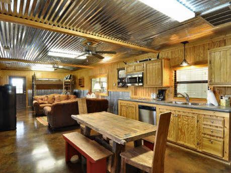 Indoor Tin Roof Perfect For When W Build At Ranch With Images