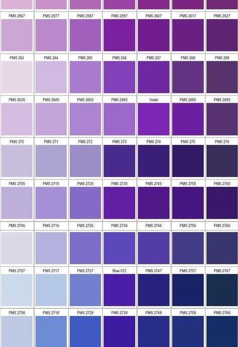 Pantone Colour Chart Purple Color Chart Pantone Color Chart