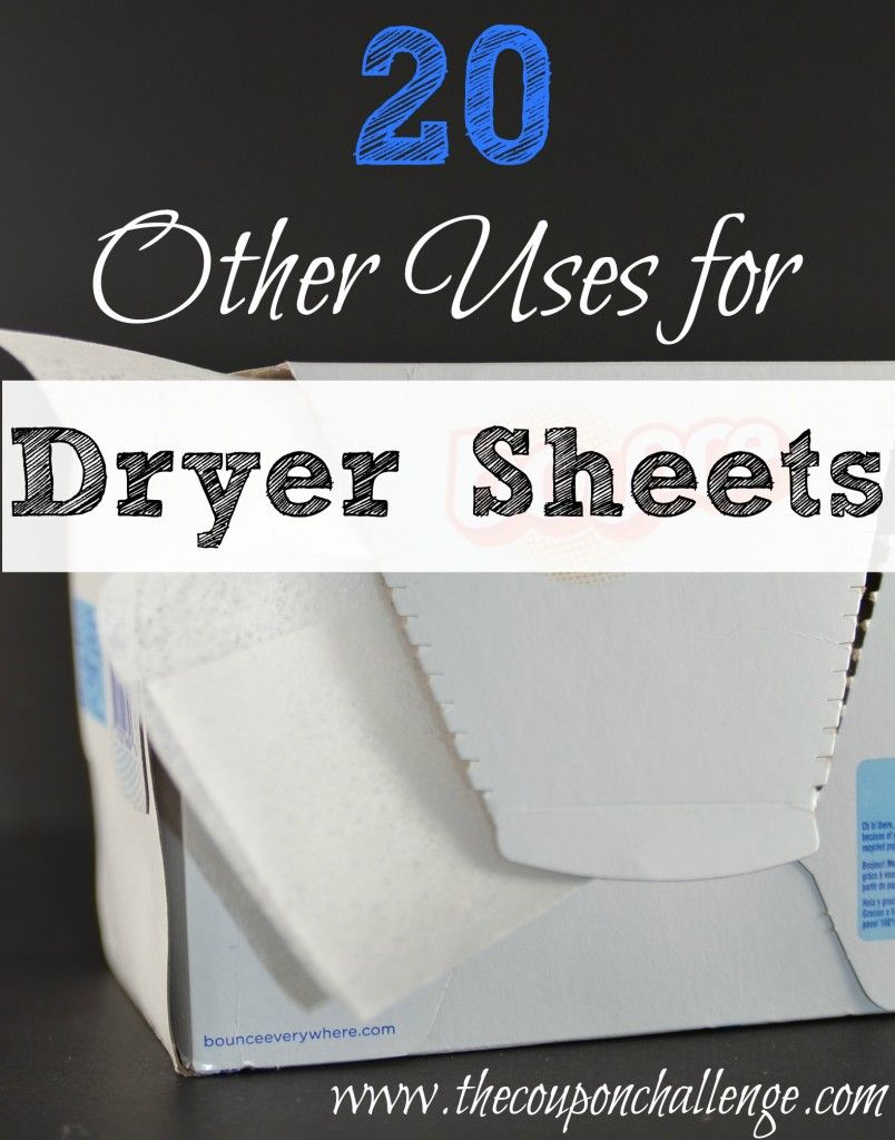 That's right!  Dryer sheets aren't just for laundry.  Save money and get creative with these 20 Other Uses for Dryer Sheets. #11 might surprise you!
