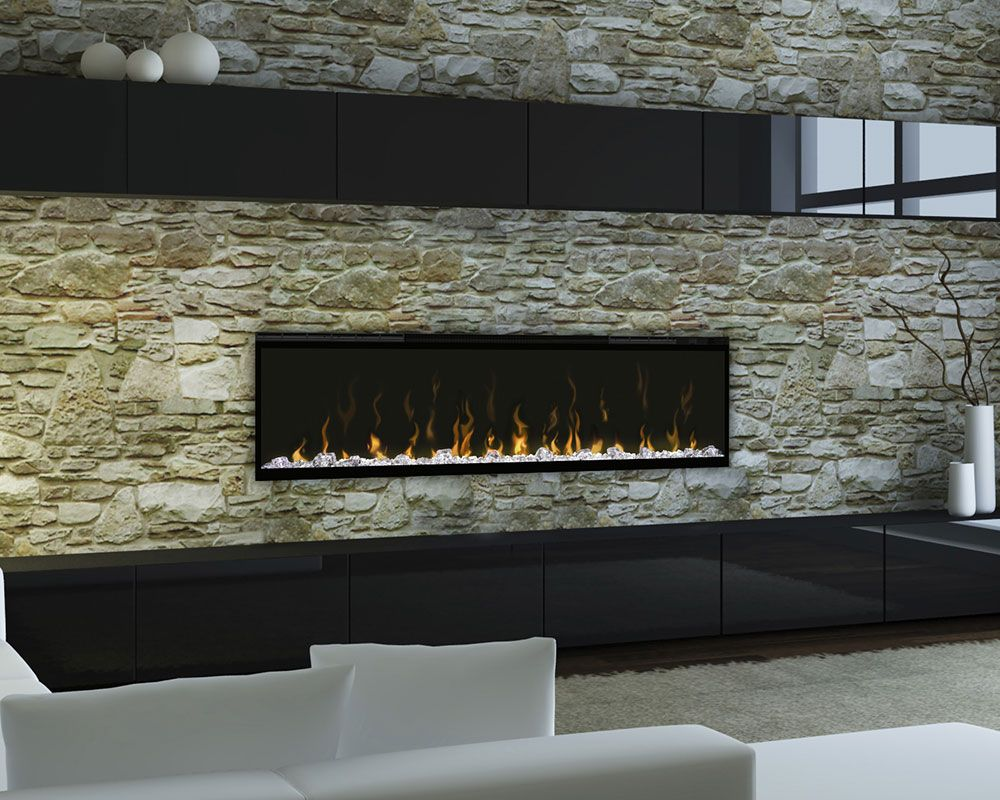 Linear Fireplace With Mantel Ideas Interior Modern Linear