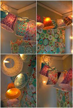 selber gemachte h ngende lampen wie bunte glocken erscheinen lampe selber machen 30. Black Bedroom Furniture Sets. Home Design Ideas