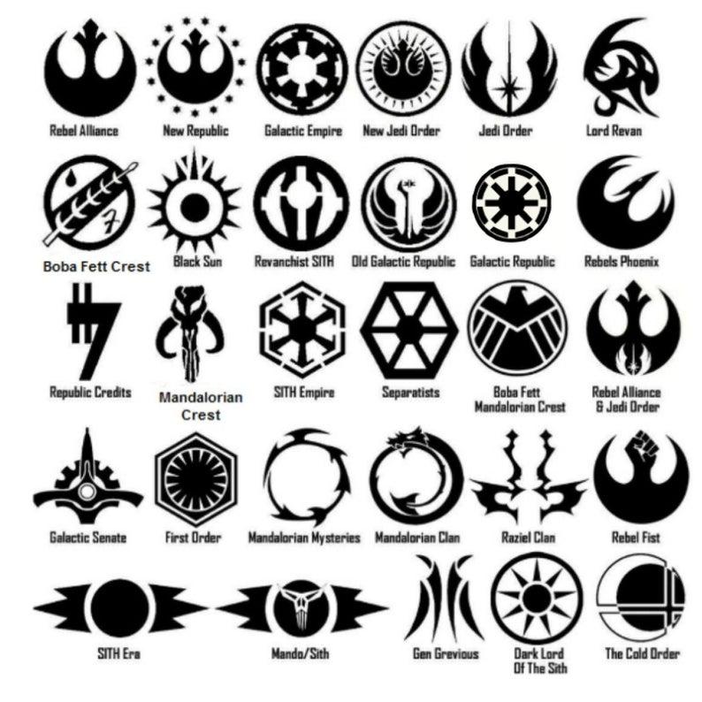 Star Wars Symbol Vinyl Decal Sticker Door Window Starwars Galactic
