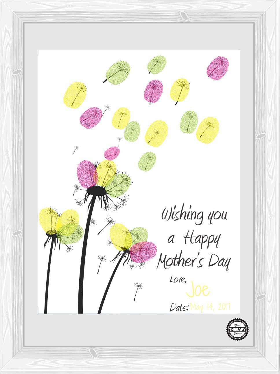 Wishing You A Happy Mother S Day Fingerprint Craft Your Therapy Source In 2021 Mothers Day Cards Happy Mother S Day Card Mother Day Wishes