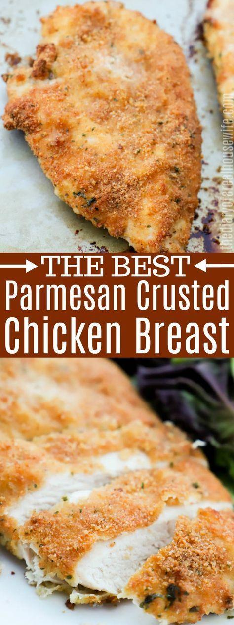 Parmesan Crusted Chicken #parmesan #chicken #grilledchickenparmesan