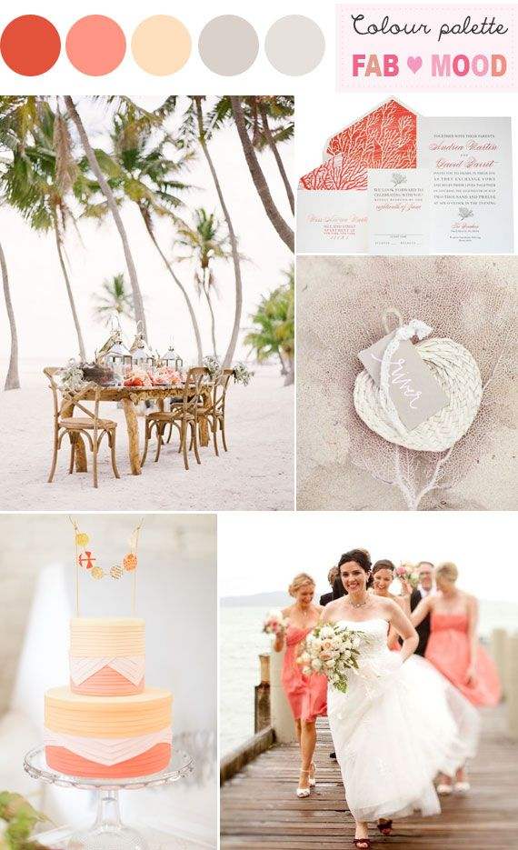 Coral Beach Wedding Colors With Images Wedding Colors Beach