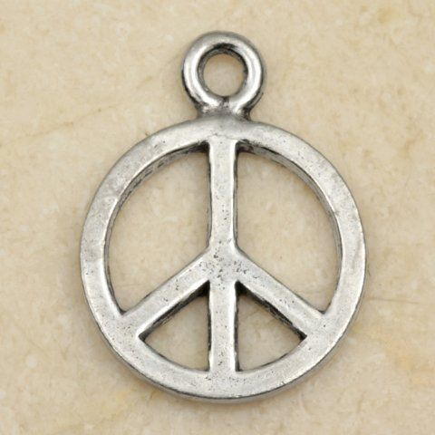 Peace sign symbol pewter charm pendant books worth reading peace sign symbol pewter charm pendant audiocablefo