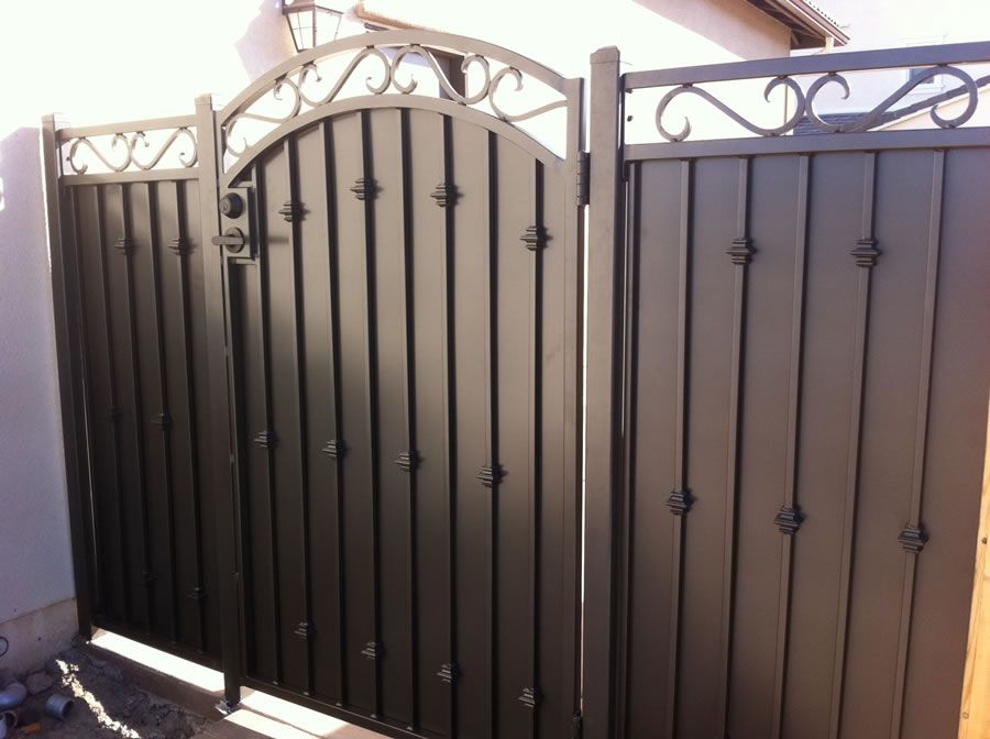 Residential Wrought Iron Privacy Gate 2 With Images Wrought