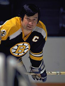 Johnny Bucyk spent over 20 seasons with the Boston Bruins. (Photo by  Portnoy HHOF) 096f95515