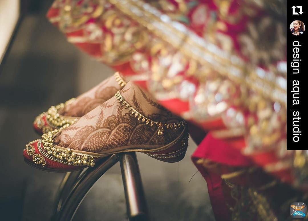 gold jhanjar/ punjabe/ payal | Punjabi stuff | Bridal shoes
