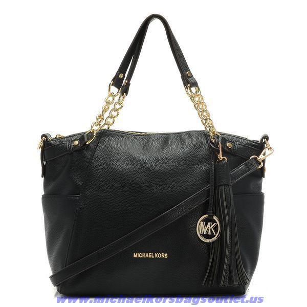Golden New Michael Kors Black Large Devon Shoulder Bag