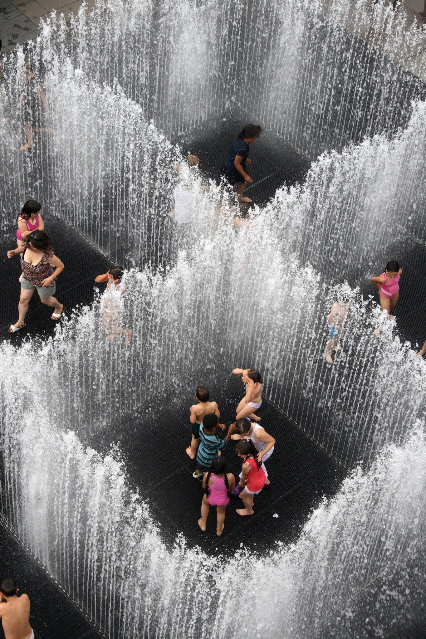 Amazing New Art Installation In Brooklyn U2014 This Fountain Is Called  Appearing Rooms And The Jets