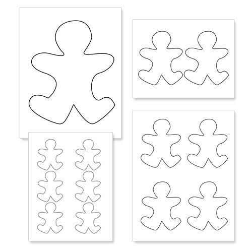 blank outline template printable gingerb man outline sunday  printable gingerb man outline sunday school blank outline template
