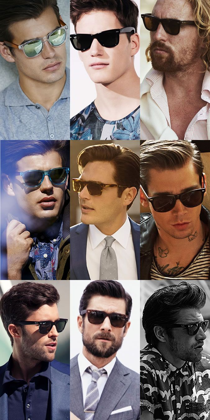 4dbca8b4b How To Wear Sunglasses - Key Style: Wayfarers - Will Suit: Oval, long and  round face shapes. Key Brands: Ray-Ban, Oakley, Jeepers Peepers, Oliver  Spencer, ...