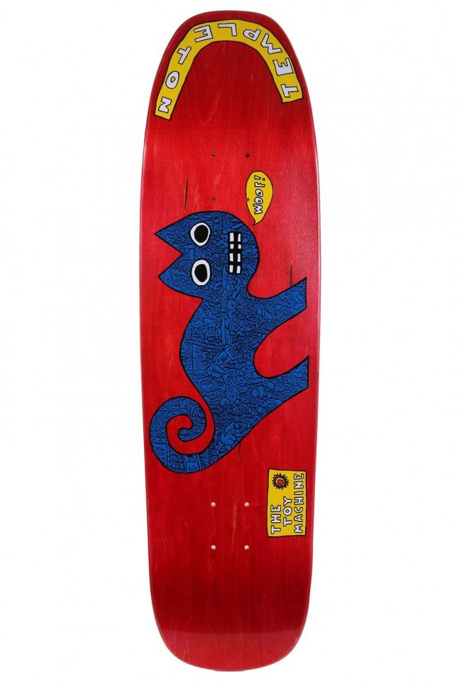 c4ed111ba2b4 Old School Pro Templeton Cat Red skateboard deck by Toy Machine ...