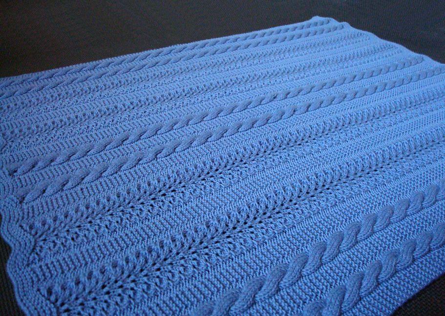 Knitted Blanket Patterns Ravelry : Ravelry: Heavenly Baby Blanket pattern by Joyce Nordstrom ...