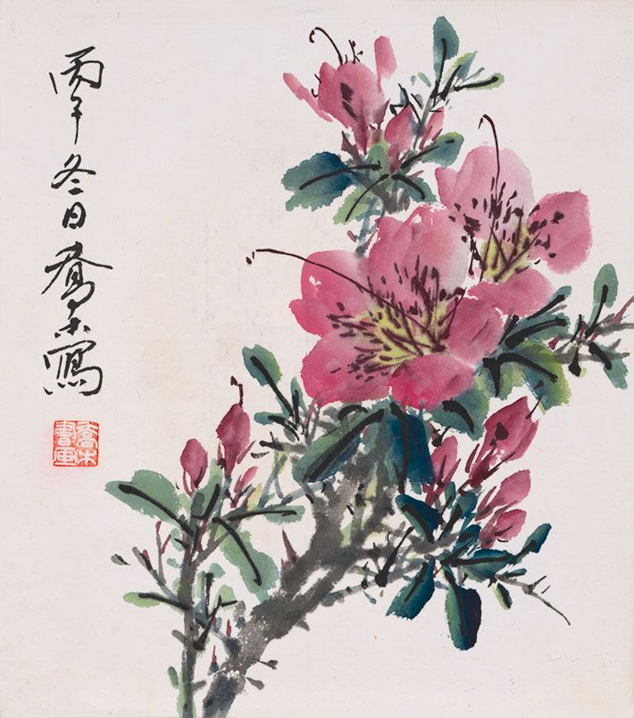 Flowers And Birds Azaleas Rice Paper Prints Traditional Chinese Painting Customize Painting Gicle Watercolor Flowers Tutorial Oriental Flowers Chinese Painting