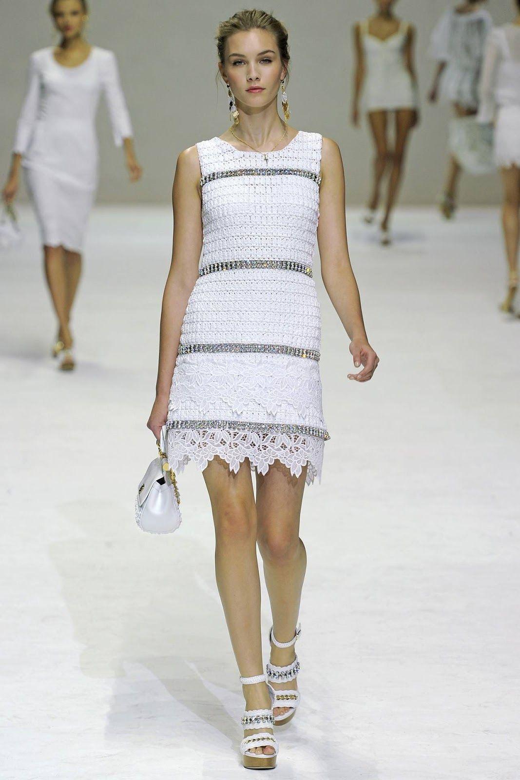Dolce Gabbana Dress Free Pattern To Crochet Knit Tricot And