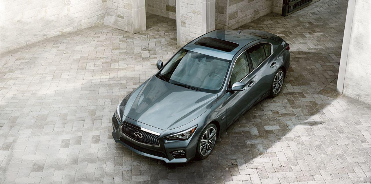 2014 Infiniti Q50 Luxury Sedan Driver Side BirdsEye