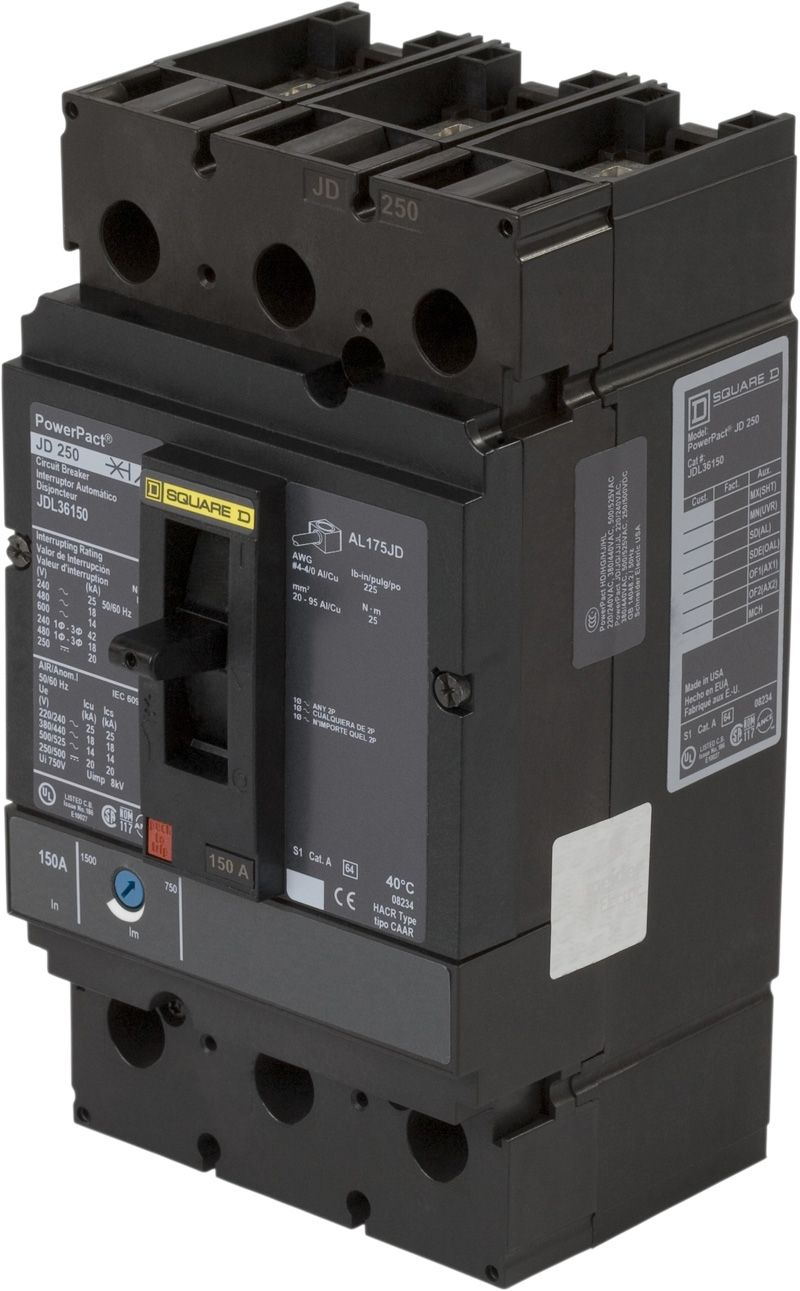 TQD32150 General Electric GE Type TQD Circuit Breaker 3 Pole 150 Amp 240V