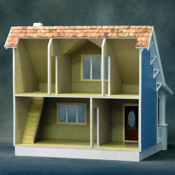 Beach Bungalow Wooden Dollhouse Kit