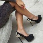 Black high heels …