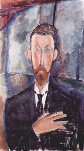 Amedeo Modigliani (1884 -1920) | Expressionism | Portrait de Paul Alexanders - 1913